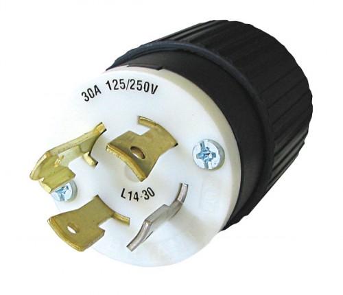 Plugue -lock  Padr U00c3o Nema L14   250v  30a
