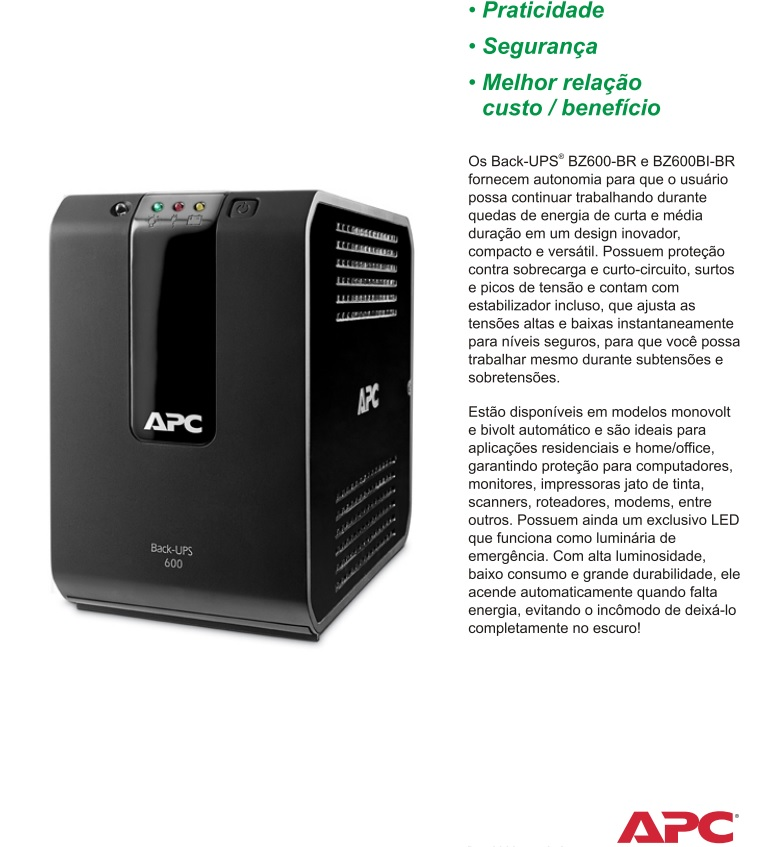 nobreak back-ups apc 700va