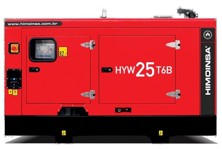 Grupo Gerador Carenado e Silenciado HYW-25 KVA T6B DIESEL -  Himoinsa