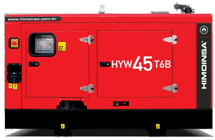 Grupo gerador carenado e silenciado HYW-45 KVA T6B diesel - Himoinsa