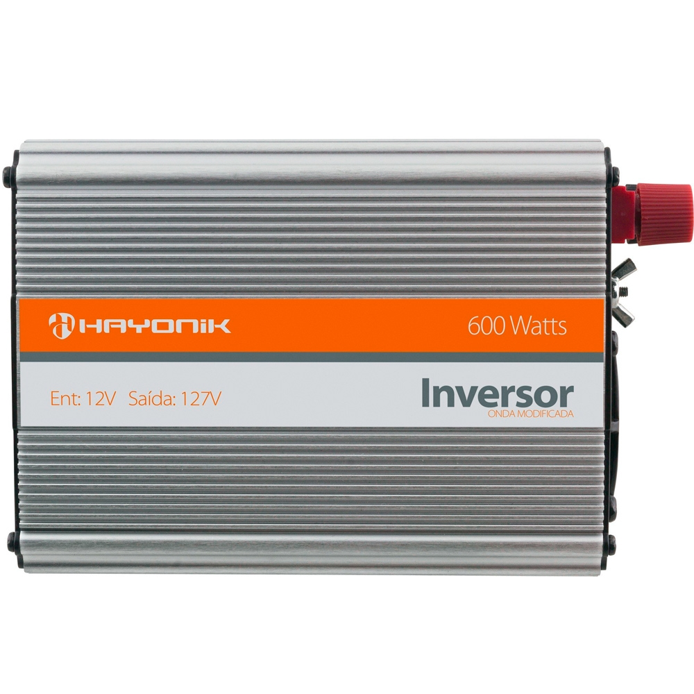 INVERSOR ONDA MODIFICADA 12VDC/127V USB 600W - HAYONIK
