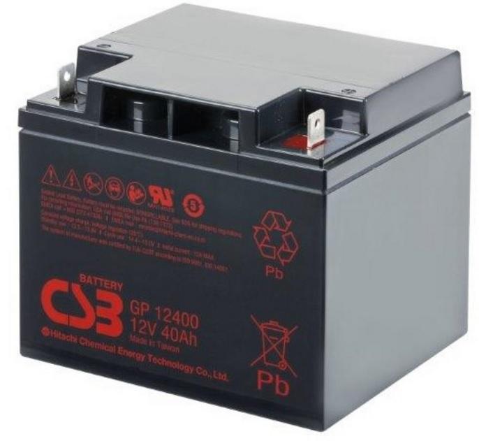 BATERIA CSB 12V 40AH GP 12400 (Termina) M5  ORIGINAL - CSB