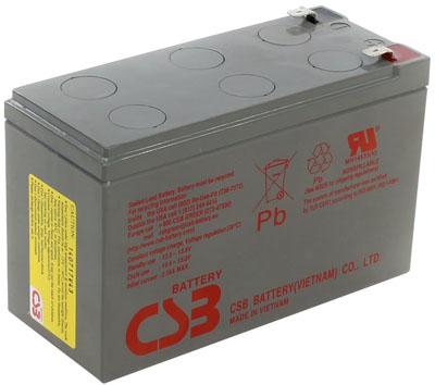 Bateria CSB HRL 1234W F2 12VDC 9Ah 34W longa vida 8 Anos