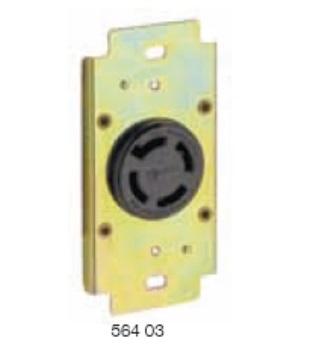 TOMADA INDUSTRIAL 3P+T COM TRAVA 30A 440V COM PLACA PIAL