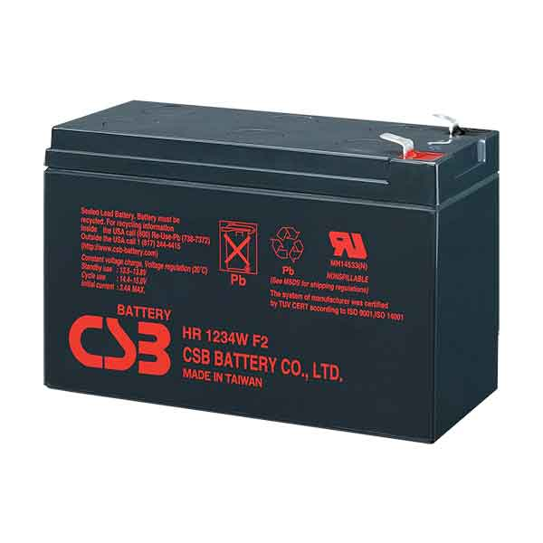 Bateria CSB 12V 9AH-34W HR 1234 F2  ORIGINAL  SMS/NHS/APC