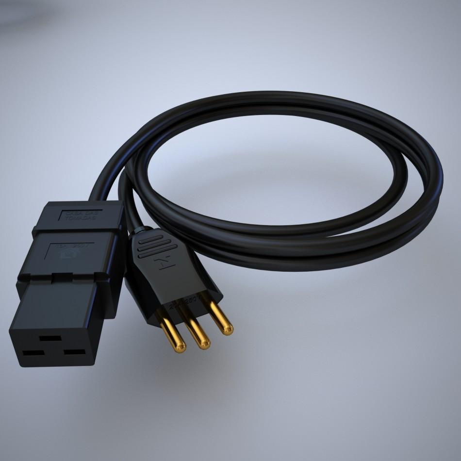 Cabo de Força C19 para Plug NBR14136 20A 2-Metros