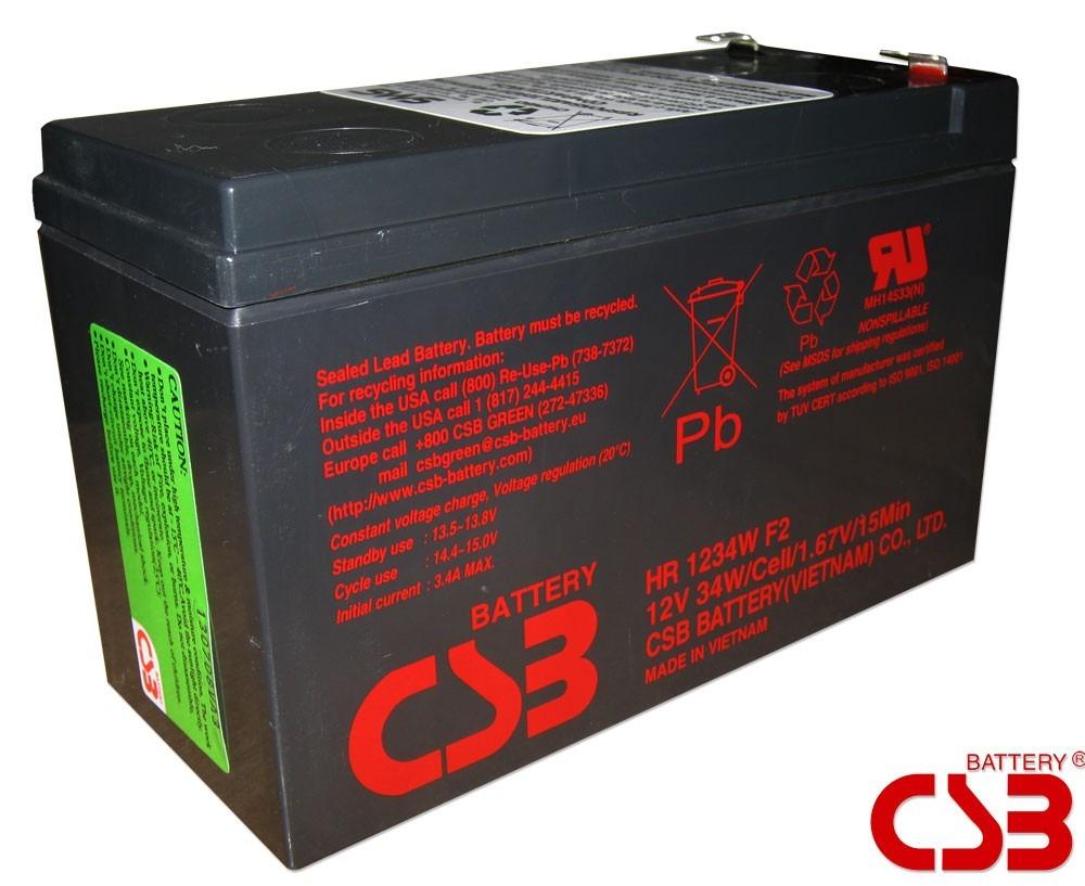 Bateria CSB 12V 9Ah-34W HR 1234 F2