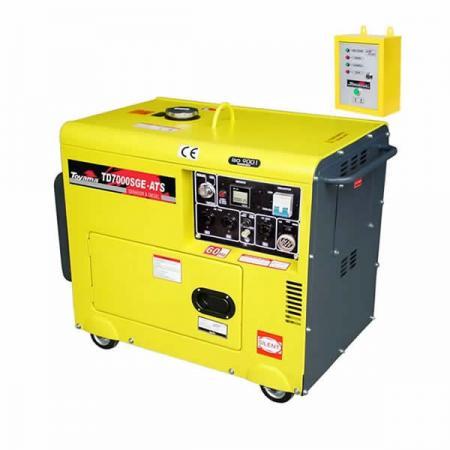 Gerador Energia Diesel Toyama 6000W Bivolt 110/220V Cabinado Painel Automático ATS