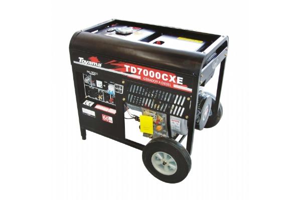 Gerador Energia Diesel Toyama 6000W Bivolt 110/220 V Aberto Partida Eletrica