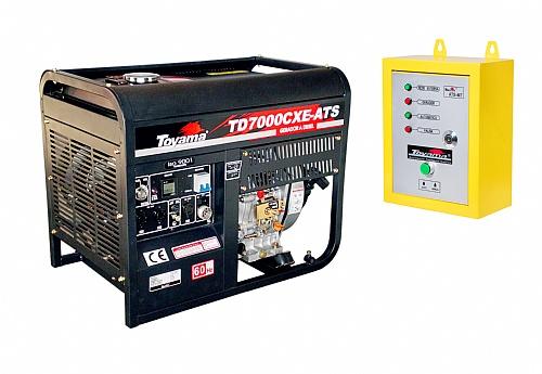 Gerador Energia Diesel Toyama 6000W Bivolt 110/220 V Aberto Painel Automático ATS