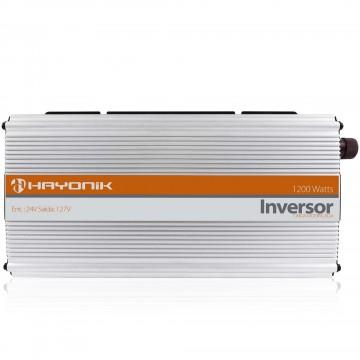 INVERSOR ONDA MODIFICADA 24VDC/127V USB 1200W - HAYONIK