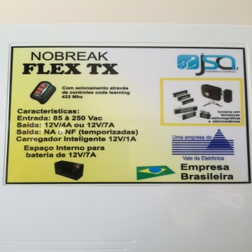 NOBREAK FLEX TX p/ Fechadura Eletromagnénica
